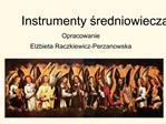 Instrumenty sredniowiecza