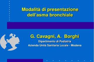 Modalit  di presentazione dell asma bronchiale