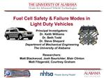 Fuel Cell Safety  Failure Modes in Light Duty Vehicles
