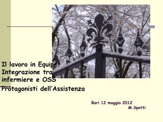 Bari 12 maggio 2012                       M.Spotti