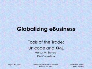 Globalizing eBusiness