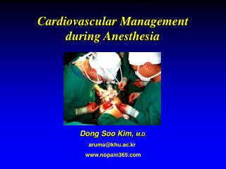 Cardiovascular Management during Anesthesia