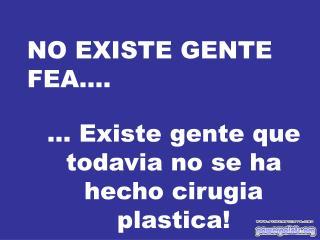 NO EXISTE GENTE FEA....
