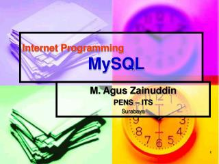 Internet Programming    MySQL