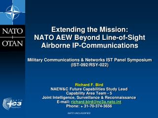 Extending the Mission: NATO AEW Beyond Line-of-Sight Airborne IP-Communications  Military Communications  Networks IST P