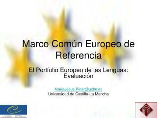 Marco Com n Europeo de Referencia