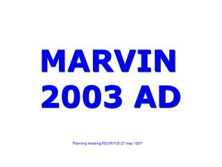 MARVIN 2003 AD