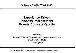Software Quality Week 1996