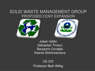 Solid Waste management Group Proposed CCNY Expansion