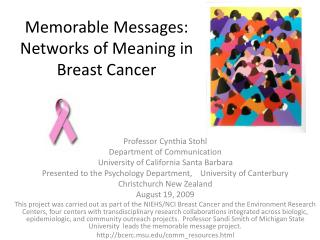 Memorable Messages:  Networks of Meaning in Breast Cancer