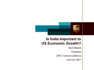 Is India Important to  US Economic Growth