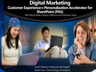 Digital Marketing  Customer Experience   Personalization Accelerator for SharePoint PAS