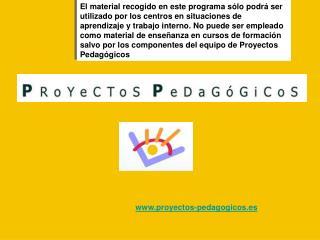 Proyectos-pedagogicos.es