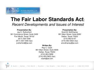 Presentation By:  Scott M. McElhaney  901 Main Street, Suite 6000  Dallas, Texas 75202  214 953-6147  214 953-5822 fax