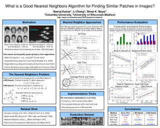 What is a Good Nearest Neighbors Algorithm for Finding Similar Patches in Images