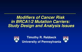 Modifiers of Cancer Risk  in BRCA1