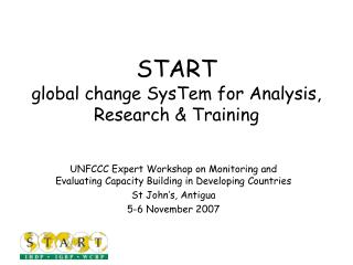 START  global change SysTem for Analysis, Research  Training