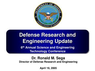 Defense Research and Engineering Update