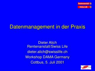 Datenmanagement in der Praxis