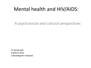 PSYCHIATRIC DISORDERS IN THE HIV CLINIC