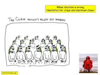 When intuition is wrong Heuristics for clique and maximum clique