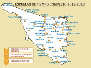ESCUELAS DE TIEMPO COMPLETO 2012-2013