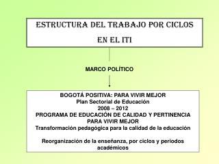 ESTRUCTURA DEL TRABAJO POR CICLOS EN EL ITI