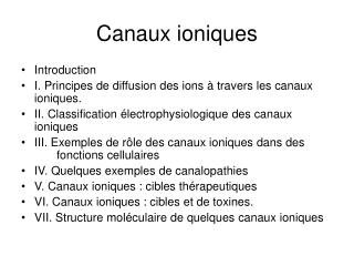 Canaux ioniques