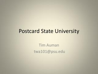 Postcard State University
