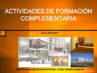 ACTIVIDADES DE FORMACI N COMPLEMENTARIA