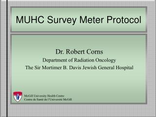 MUHC Survey Meter Protocol