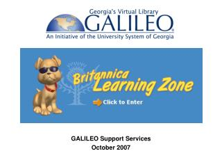 GALILEO Support Services October 2007