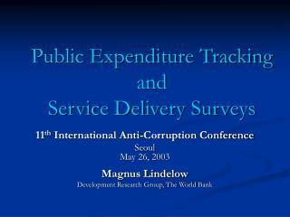 Public Expenditure Tracking