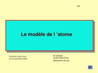 Le mod le de l  atome