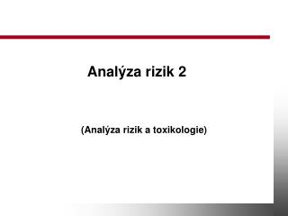 Anal za rizik 2