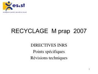RECYCLAGE  M prap  2007