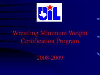 Weight Certification Info