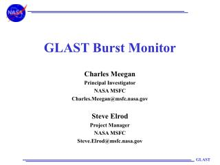 GLAST Burst Monitor