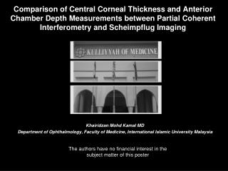 Comparison of Central Corneal Thickness and Anterior Chamber Depth Measurements between Partial Coherent Interferometry