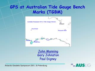 GPS at Australian Tide Gauge Bench Marks TGBM
