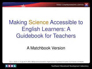 Making Science Accessible to English Learners: A Guidebook for Teachers