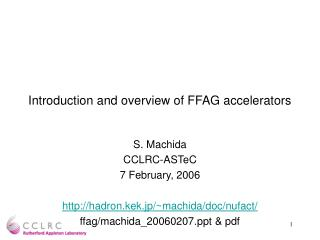 Introduction and overview of FFAG accelerators