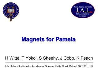 Magnets for Pamela