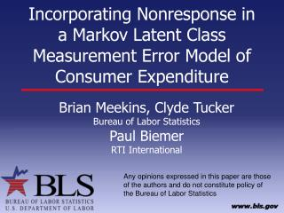 Incorporating Nonresponse in a Markov Latent Class Measurement Error Model of Consumer Expenditure