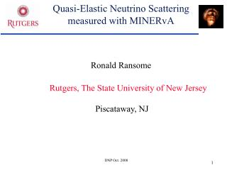 Quasi-Elastic Neutrino Scattering measured with MINERvA