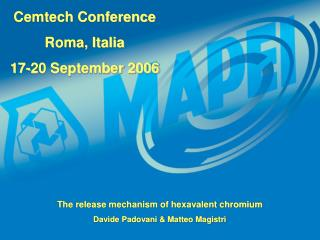 Cemtech Conference Roma, Italia 17-20 September 2006