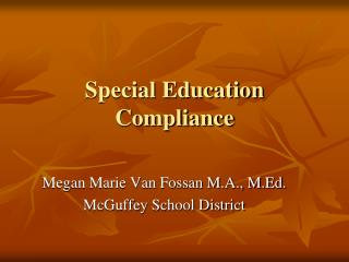 Special Education Compliance
