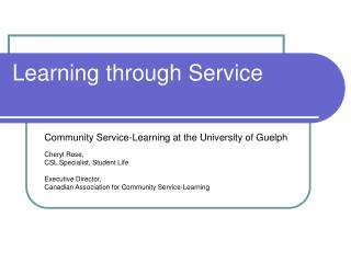 Learning through Service