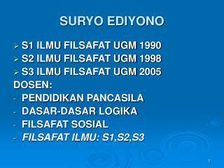 SURYO EDIYONO