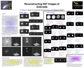 Reconstructing HST Images of  Asteroids